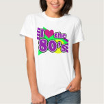 I Love the 80's Geometric Neon Eighties Party Tee Shirt
