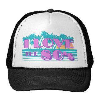 I Love The 80's Mesh Hats