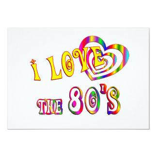I Love the 80s 5x7 Paper Invitation Card