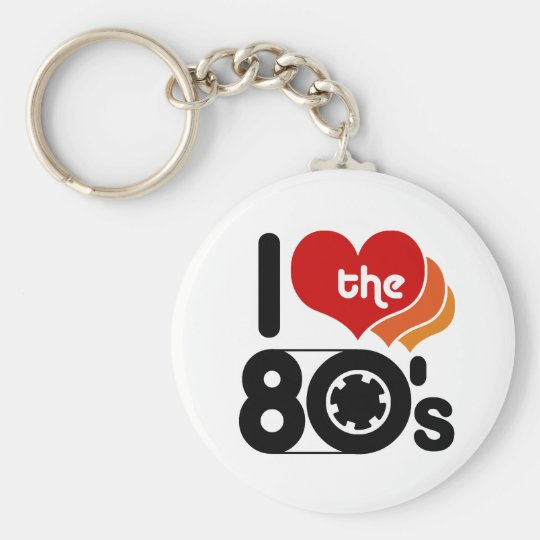 I Love the 80's Keychain