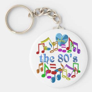 I Love the 80s Keychain
