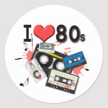 I love the 80s multiple products selected classic round sticker