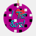 I Love The 80s! Double-Sided Ceramic Round Christmas Ornament