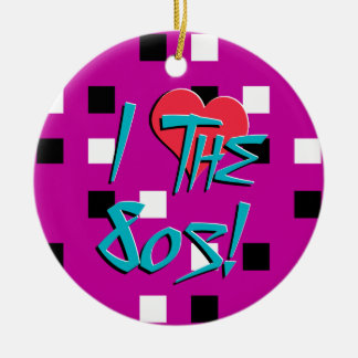 I Love The 80s! Christmas Ornaments