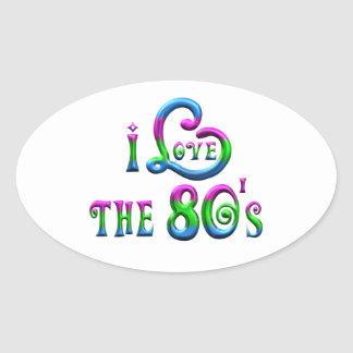I Love the 80s Oval Sticker