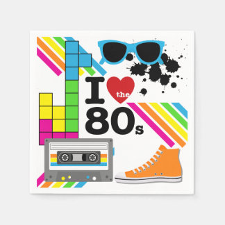 I Love the 80s Paper Napkins