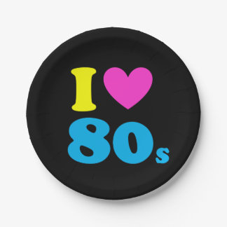 I Love The 80s Paper Plate