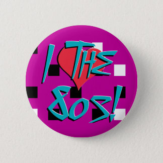 I Love The 80s! Pinback Button