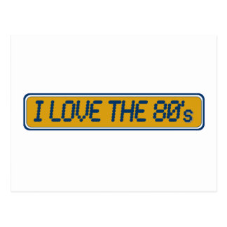 I Love The 80'S Postcard