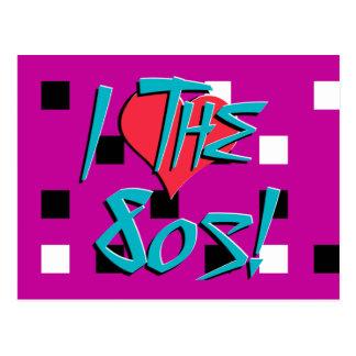I Love The 80s! Postcard