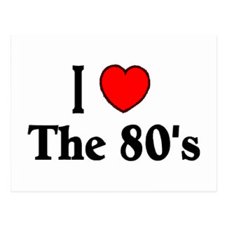 I Love The 80's Postcards