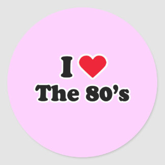 I love the 80's round stickers