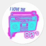 I LOVE THE 80s Sticker