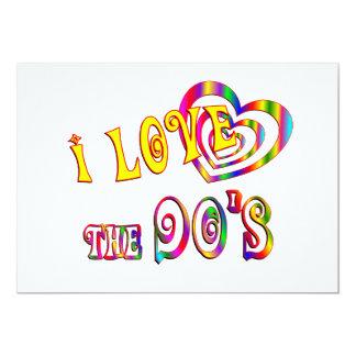 I Love the 90s 5x7 Paper Invitation Card