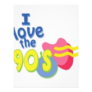 I Love the 90s Letterhead