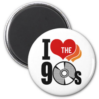 I Love The 90s Refrigerator Magnet