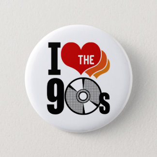 I Love The 90s Pinback Button
