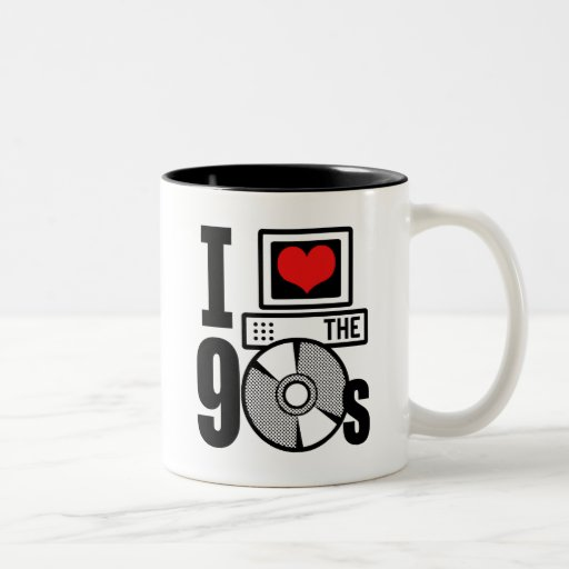 I Love The 90s Two-Tone Coffee Mug