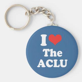 I LOVE THE ACLU - .png Keychain