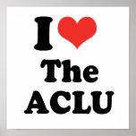 I LOVE THE ACLU - .png Print