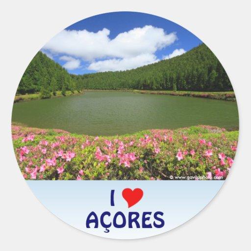 I Love the Açores Sticker