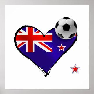 I love the all whites new zealand flag football poster