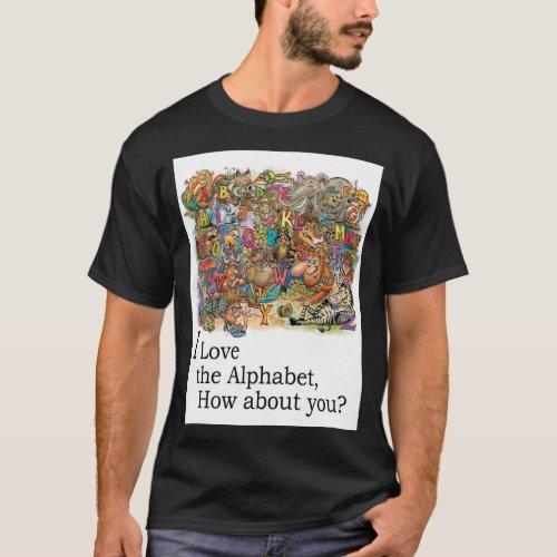 I Love The Alphabet Dark T_Shirt