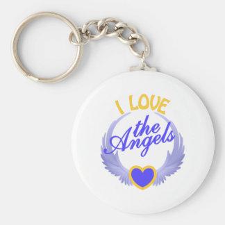 I Love the Angels Keychain