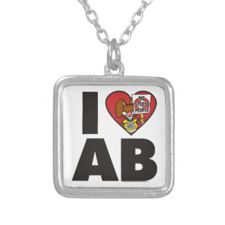 I Love The Angry Bunny Personalized Necklace