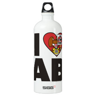 I Love The Angry Bunny Water Bottle