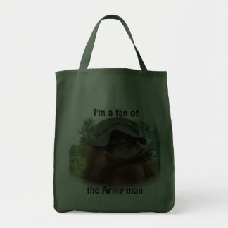 I Love the Army Man Grocery Tote Bag