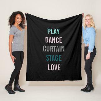 I Love The Arts Personalize Actor Fleece Blanket