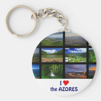 I Love the Azores Basic Round Button Keychain