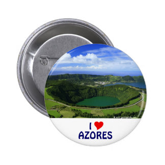 I Love the Azores Button