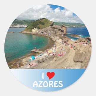 I Love the Azores Classic Round Sticker