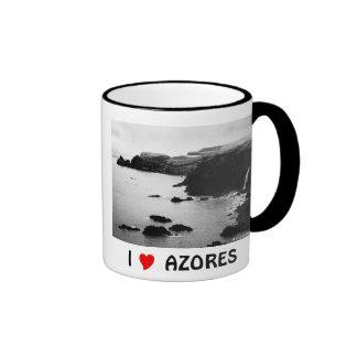 I Love the Azores Ringer Mug