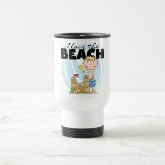 I Love the Beach Blond Boy Tshirts and Gifts Coffee Mugs