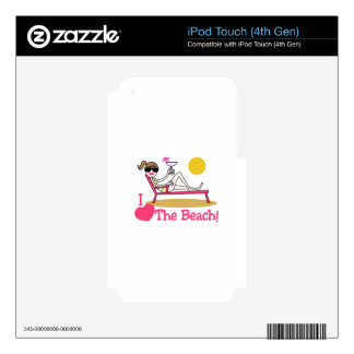 I Love The Beach Decals For iPod Touch 4G