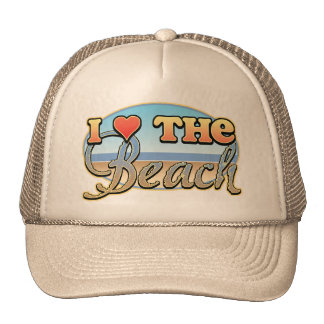 I Love the Beach Hats