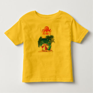 I love the beach in summer toddler t-shirt
