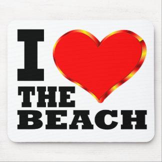 I Love The Beach Mouse Pad