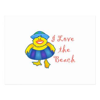 I LOVE THE BEACH POSTCARD