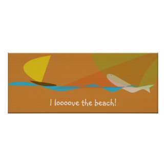 I love the beach poster