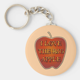 I LOVE THE BIG APPLE KEYCHAIN