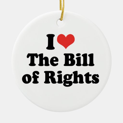 I LOVE THE BILL OF RIGHTS - .png Christmas Tree Ornaments