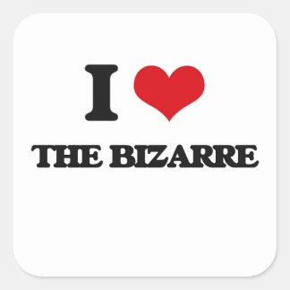 I Love The Bizarre Square Sticker