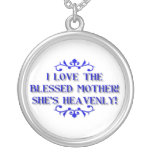 I love the Blessed Mother! She's Heavenly! Round Pendant Necklace