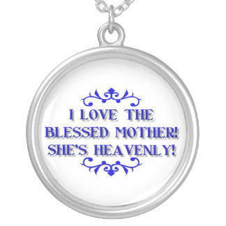 I love the Blessed Mother! She's Heavenly! Silver Plated Necklace
