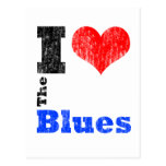 I Love The Blues Post Card