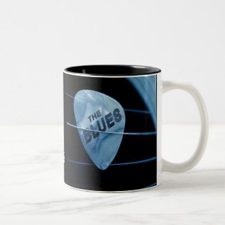 I Love The Blues Two-Tone Coffee Mug